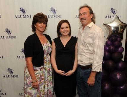 Suzanne Alston, Mallory Vipond and Bryan Alston