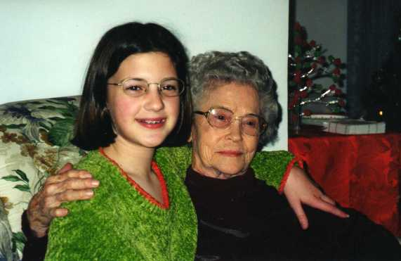 Lauren and Mama Bea in 1998
