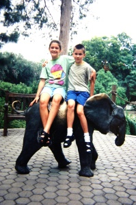 At the San Antonio Zoo in 1997 or1998