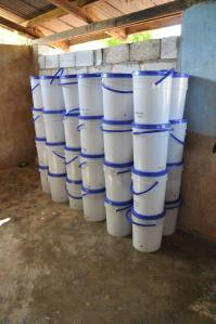 Water Filter Buckets ready to be assembled.