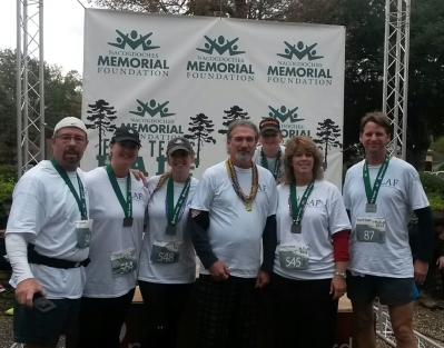 Team Peace, Love, LAF: Russell Harvey, Tracy Portwood, Robin Hamil, Bryan, Brody Hamil, Suzanne, Ragin Cornelius. Missing is Julie Alston.